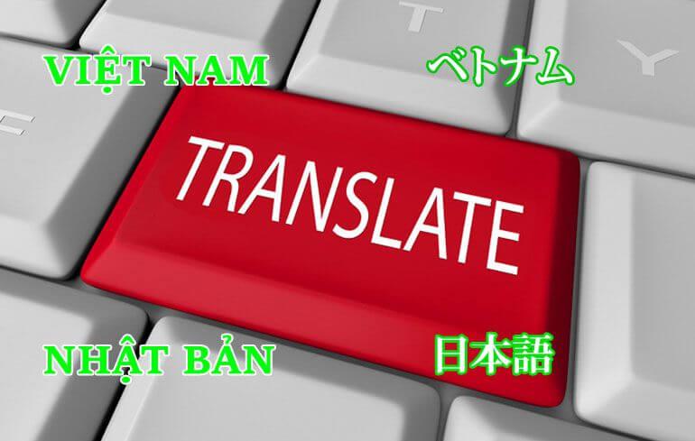 dịch thuật tiếng nhật sang tiếng việt tại Hà Nội