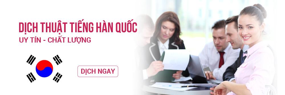dịch thuật tiếng Hàn tại Hà Nội