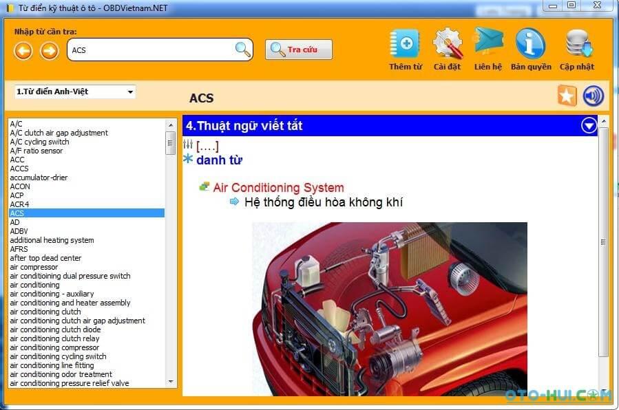 Phần mềm dịch tiếng anh chuyên ngành ô tô online
