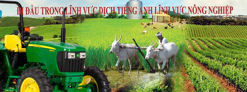 Dịch thuật tiếng anh chuyên ngành nông nghiệp