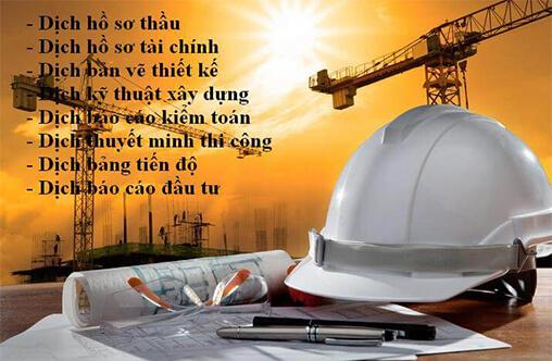 Địa chỉ dịch thuật tiếng Anh chuyên ngành xây dựng