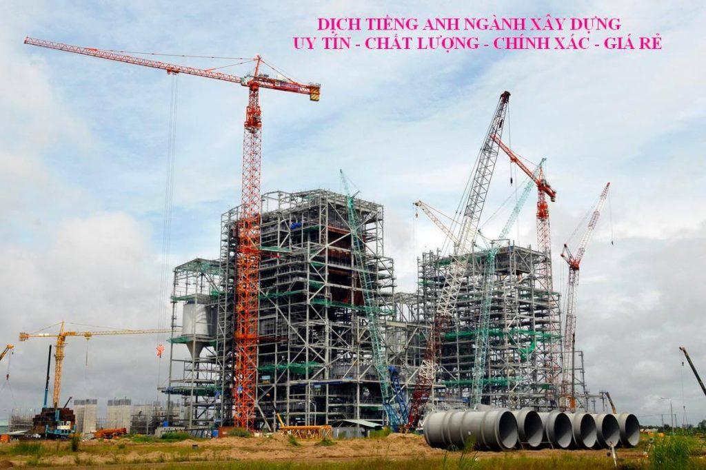 Dịch thuật tiếng Anh chuyên ngành xây dựng