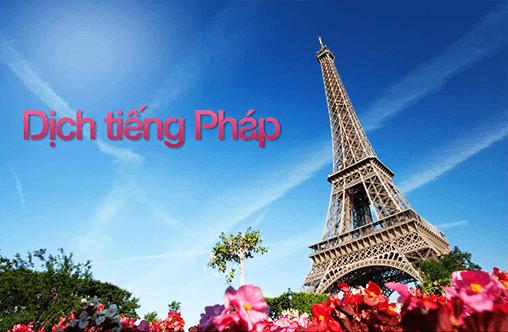 dịch thuật tiếng Pháp sang tiếng Việt