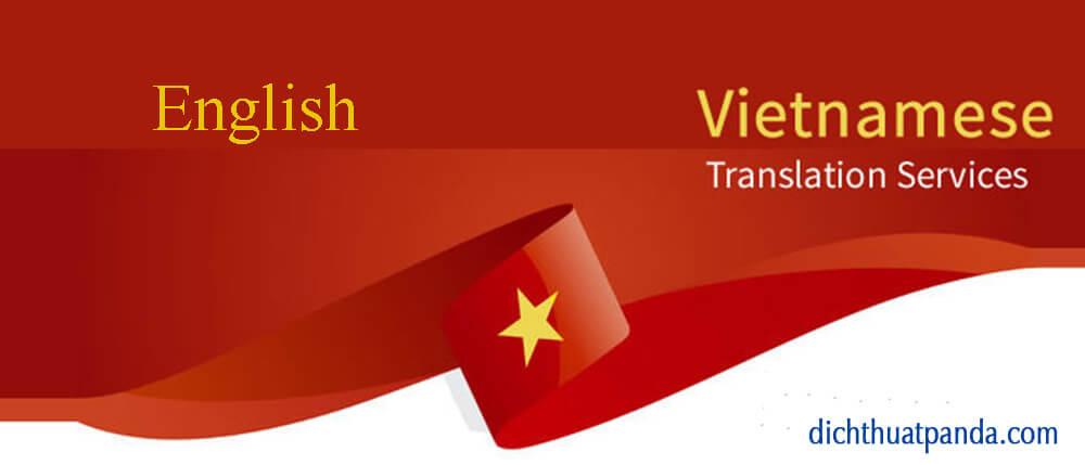 Phiên dịch tiếng Anh sang tiếng Việt