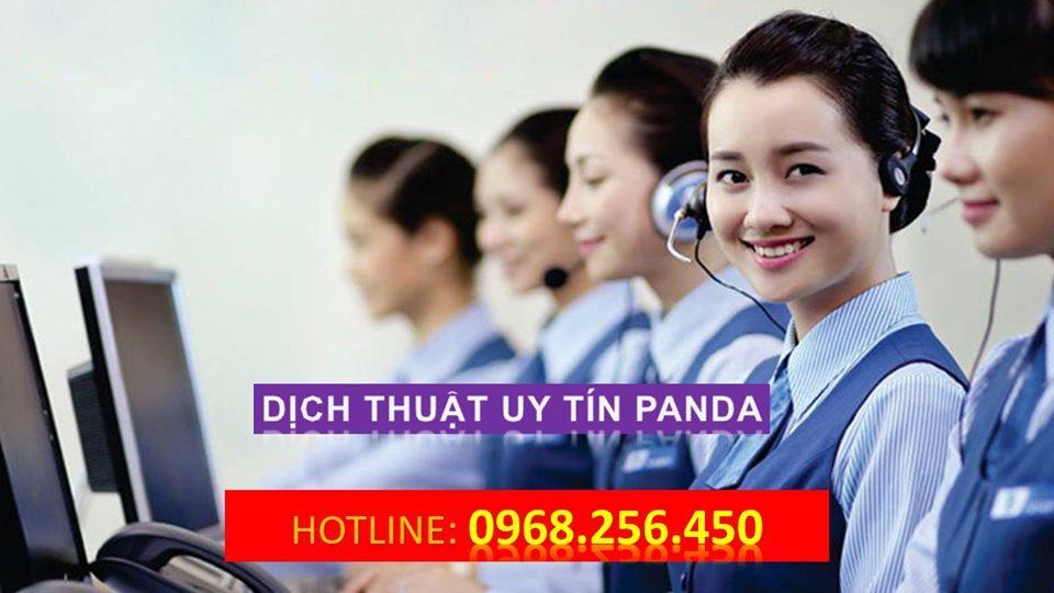 dịch vụ dịch thuật panda